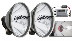 LightForce - Light Force HID240T50W | Blitz 240 12v/24v 50w HID Long Distance Driving Lights - Pair