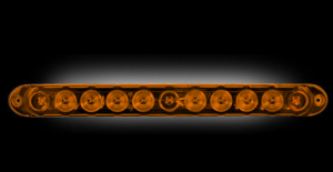 "RECON - RECON 26418AM | 15"" Mini LED Tailgate Light Bar - AMBER"