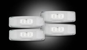 RECON - RECON 264130CL | LED Dually Fender Lights - CLEAR For Dodge Ram 94-02