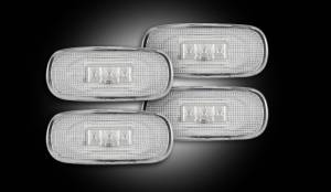 RECON - RECON 264131CL | LED Dually Fender Lights - CLEAR For Dodge Ram 03-09
