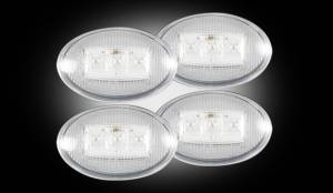 RECON - RECON 264132CL | LED Dually Fender Lights - CLEAR For Ford Superduty 99-10
