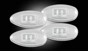 RECON - RECON 264133CL | LED Dually Fender Lights - CLEAR For GMC Sierra / Chevrolet Silverado 99-13
