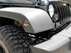 RECON - RECON 264135BK | LED Front Fender Lens - SMOKED For Jeep Wrangler JK 07-16