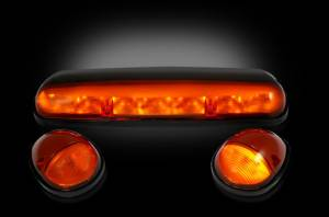 Recon - RECON 264155AM | LED Cab Roof Lights - AMBER For GM 02-07