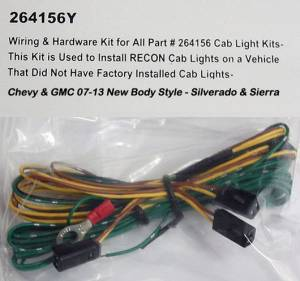RECON - RECON 264156Y | Cab Roof Lights Wiring Kit For GM 07-13