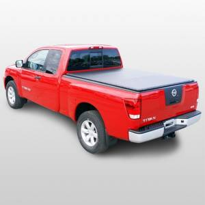 "Downey - Downey SST 206118 | 5'5"" Crew Cab Short Bed Slant Side Tonneau Bed Cover For Nissan Titan 04-16"