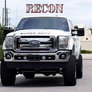 "RECON - RECON 264181CHBK | ""SUPERDUTY"" Raised Letter Inserts - CHROME & BLACK For Ford Superduty 08-15"