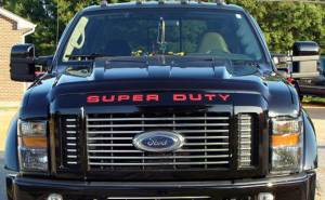 "RECON - RECON 264181RD | ""SUPERDUTY"" Raised Letter Inserts - RED For Ford Superduty 08-15"