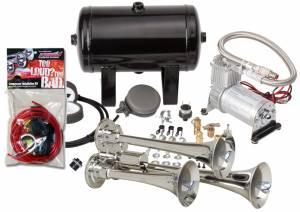 Kleinn - Kleinn HK3    Pro Blaster's Triple Air Horn Kit w/ 130 PSI Sealed Air Compressor & 1.0 gal tank