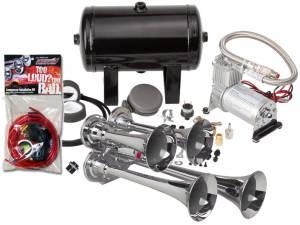 Kleinn - Kleinn HK4  Pro Blaster's Quad Air Horn Kit w/ 130 PSI Compressor / 1 gal tank