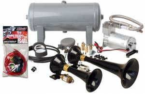 Kleinn - Kleinn HK5 |  Pro Blaster's Dual Train Horn Kit w/ 150 PSI Sealed Air Compressor & 1.5 gal tank