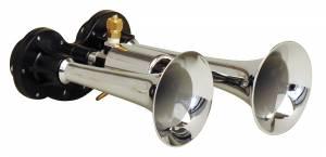 Kleinn - Kleinn 99 |  Dual chrome compact air horn trumpets.  High pitch, painful sound!