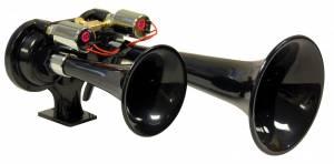 Kleinn - Kleinn 225    Black dual ABS train horns with alternating siren tone