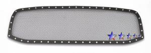 Outlaw Lights - 2002 - 2005 Dodge Ram Outlaw Black Mesh Rivet Grille