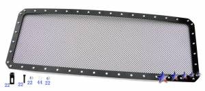 Outlaw Lights - 2011-2015 Ford SuperDuty Outlaw Black Mesh Grille with Rivets