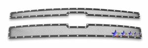 Outlaw Lights - 2011-2014 Chevy Silverado HD Outlaw Black Mesh Grille with Rivets | Will not fit 1500 Models