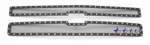 Outlaw Lights - 2007 - 2010 Chevrolet Silverado HD Outlaw Black Mesh Rivet Grille | will not fit 1500 models