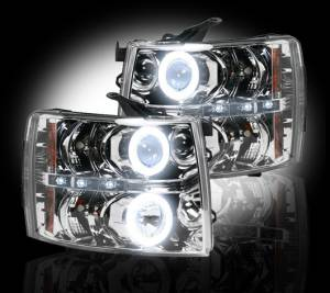 RECON - Recon 264195CLCC | Clear Projector Headlights w/ CCFL Halos - For Chevrolet Silverado 07-13