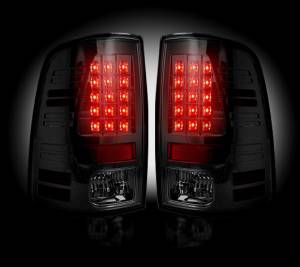 RECON SMOKED LED Tail Lights | 2013-17 Dodge Ram 1500/2500/3500 w/ Factory LED Tail Lights | Dale's Super Store