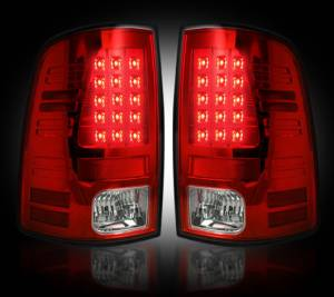 RECON - RECON 264236RD | LED Tail Lights - RED (2013-14 Dodge Ram 1500/2500/3500 w/ Factory LED Tail Lights)
