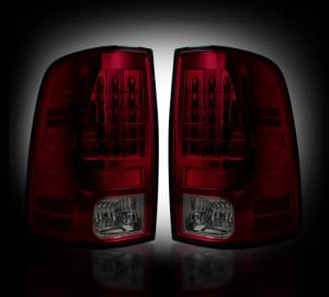 RECON - RECON 264236RDBK | LED Tail Lights - RED SMOKED (2013-14 Dodge Ram 1500/2500/3500 w/ Factory LED Tail Lights)