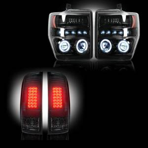 RECON - RECON Smoked Headlight & Tail Light Package | 2008-10 Ford Superduty