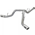 "Exhaust Systems | 2017-2018 Ford Powerstroke 6.7L - DPF Backs | 2017-2018 Ford Powerstroke 6.7L - aFe Power - aFe Power Large Bore HD 4"" Stainless DPF-Back w/Polished Tips 