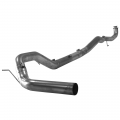 "Full Exhaust Systems - Downpipe Back Exhaust Systems - Flo~Pro - Flo~Pro 5"" Downpipe Back Single Exhaust w/No Muffler 