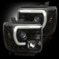 RECON Smoked U-Bar Halo Projector Headlights | 2015-2017 GMC Sierra | Dale's Super Store