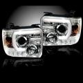 RECON Clear U-Bar Halo Projector Headlights | 2015-2017 GMC Sierra | Dale's Super Store