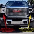 RECON - RECON Smoked U-Bar Halo Projector Headlights | 2014-2018 GMC Sierra - Image 5