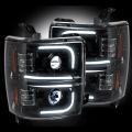 RECON Smoked U-Bar Halo Projector Headlights | 2015-2017 Chevy Silverado 2500/3500 | Dale's Super Store