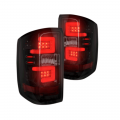 Lighting - Tail Lights - RECON - RECON Smoke LED Tail Lights | 264238BK | 2014+ Chevy Silverado