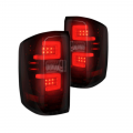 Lighting - Tail Lights - RECON - RECON Red Smoke LED Tail Lights | 264238RBK | 2014+ Chevy Silverado