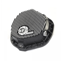 aFe Power - aFe Power Pro Series Black w/Machined Fins Rear Differential Cover | 2001-2017 Duramax, 2003-2014 Cummins, & 01-07 GM Gas
