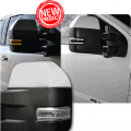 RECON Clear Side Mirror Lenses w/White LED Running Lights | 2017-2018 Ford Super Duty