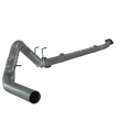 "Diesel Truck Parts - Flo~Pro - Flo~Pro 4"" Down Pipe Back Single Exhaust System with No Muffler 