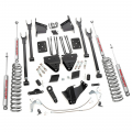 Diesel Truck Parts - Rough Country - Rough Country 6in 4-Link Suspension Lift Kit for 2015-2016 Ford Powerstroke F-250 4WD