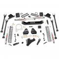 Rough Country - Rough Country 6in 4-Link Suspension Lift Kit for 2017 6.7L Ford Powerstroke F250/F350 4WD