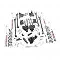 Diesel Truck Parts - Rough Country - Rough Country 8in 4-Link Suspension Lift Kit | 2008-2010 6.7L Ford Powerstroke F-250/F-350 4WD