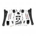 Diesel Truck Parts - Rough Country - Rough Country 5in Suspension Lift Kit | Coil Spacers | Radius Arms | 2014-2017 RAM 2500 4WD
