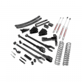 Diesel Truck Parts - Rough Country - Rough Country 6in 4-Link Suspension Lift Kit | 2005-2007 6.0L Ford Powerstroke F-250/F-350 4WD w/Overloads
