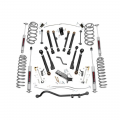 Jeep Parts - Jeep Wrangler Parts - Rough Country - Rough Country 4in X-Series Suspension Lift Kit | 1997-2006 Jeep Wrangler TJ 4WD