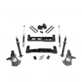 2007.5-2014 Chevrolet Silverado / GMC Sierra - Chevrolet Silverado / Sierra Suspension - Rough Country - Rough Country 5in Suspension Lift Knuckle Kit | 2014-2017 GM 1500 2WD P/U