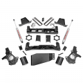 2007.5-2014 Chevrolet Silverado / GMC Sierra - Chevrolet Silverado / Sierra Suspension - Rough Country - Rough Country 7.5in Suspension Lift Kit | 2007-2013 GM 1500 4WD P/U