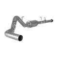 "Ford Exhaust Systems - Ford F150 Eco-Boost Exhaust Systems - Flo~Pro - Flo~Pro 4"" Aluminized Cat Back Exhaust w/Twister Resonator for 2011-2014 Ford F-150 EcoBoost 3.5L"