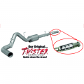 "Flo~Pro 4"" Aluminized Cat Back Exhaust w/Twister Resonator for 2011-2014 Ford F150 EcoBoost 3.5L 