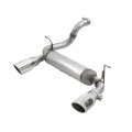 "Jeep Parts - Jeep Wrangler Parts - aFe Power - aFe Power Rebel Series 2-1/2"" Stainless Axle-Back Exhaust System for 2018 Jeep Wrangler JL"