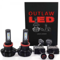 Lighting | 2007.5-2010 Chevy/GMC Duramax LMM 6.6L - LED Bulbs | 2007.5-2010 Chevy/GMC Duramax LMM 6.6L - Outlaw Lights - Outlaw Lights LED Headlight Kit | 2007-2015 GMC Sierra Low/High Beams | H11/9005-HB3