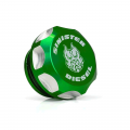 Diesel Truck Parts - Sinister Diesel - Sinister Diesel Green Billet Fuel Plug/Cap for 2013-2017 Dodge/Ram Cummins 6.7L